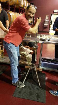 """Putting a cork in it"" Janssen pharmaceuticals team building through winemaking at Grape Finale Hands-On Winery. Cabernet Sauvignon, Team Building, Cork, Hands, Wine, Corks"