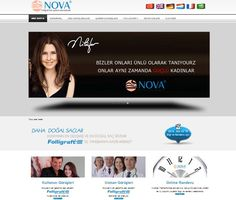 Nova Hair  Web tasarım