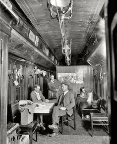 "Circa 1900. ""New York Central R.R. photographic car."" Possibly one of the ""specials"" reserved by DPC for the use of its photographers as they traveled around the Northeast. Detroit Photographic Co. glass negative"