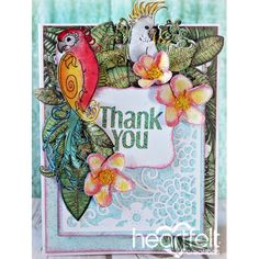 Heartfelt Creations - Tropical Thank You Project