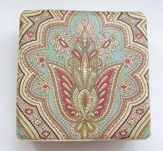 Moroccan Tapestry Print Coaster Set by AmysCustomCoasters on Etsy, $20.00