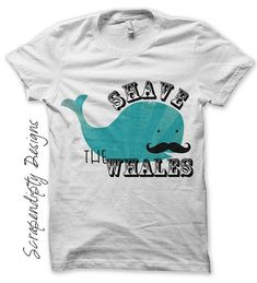 Iron on Whale Shirt - Mustache Iron on Transfer / Kids Boys Funny T shirt / Men Tshirt Shave the Whales / Hipster Baby One Pieces IT225-D on Etsy, $2.50