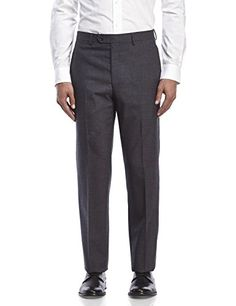 Ralph Lauren Charcoal Checkered Flat Front New Men s Dress Pants at Amazon  Men s Clothing store  f7e8a35e5