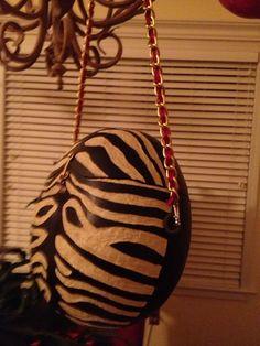Zebra gourd purse.