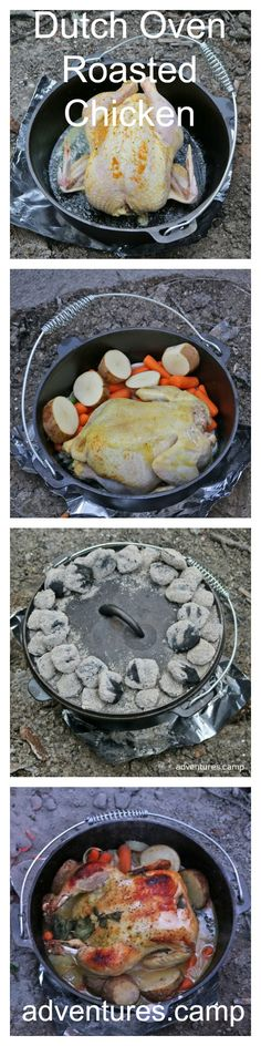 Dutch Oven Roasted Chicken with Vegetables