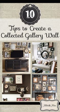 Tips for Creating a Collected Gallery Wall Tidbits & Twine: Tips for creating a collected gallery wall.Tidbits & Twine: Tips for creating a collected gallery wall. Decor, House Design, Home Projects, House Styles, Gallery Wall, New Homes, Home Decor, Home Deco, Metal Tree Wall Art