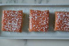 // rhubarb curd shortbread.