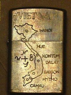Vietnam War Brass Zippo Lighter VIETNAM