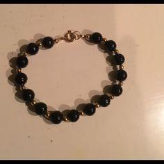 Beautiful Black Bead Bracelet. $4 Bundle Price.