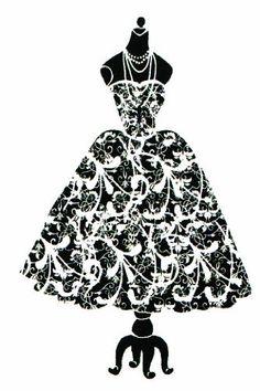 Dress silhouette on dress form rubber stamp by Dragonflylaser, http://www.amazon.com/dp/B0097V5AFI/ref=cm_sw_r_pi_dp_hAewqb1FG1B0G