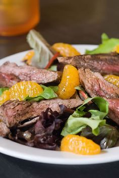 ... steak salad grilled # flank steak # salad with citrus dressing more