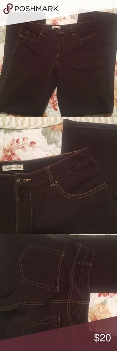 Coldwater Creek jeans Cotton /spandex.  Plenty of stretch for comfort. Coldwater Creek Jeans