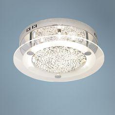"Possini Euro Crystal Disc 15 3/4"" Wide Ceiling Light Fixture, $250 | LampsPlus.com"
