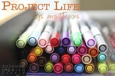 Project Life Tips & Tricks ~~ LOTS of great ideas/suggestions - especially if you're just getting started with Project Life! {Like me}