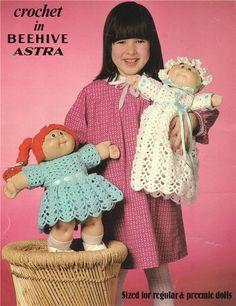 CABBAGE PATCH & PREEMIE DOLL - doll crochet pattern