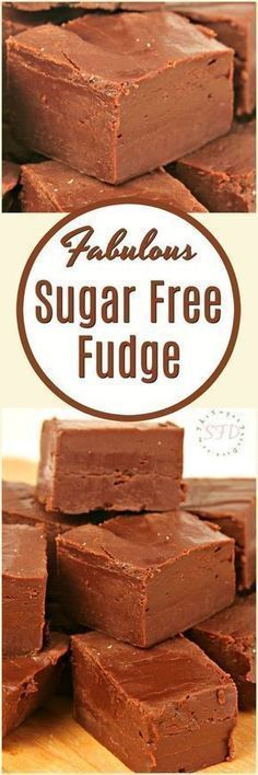 Enjoy this Fabulous sugar free fudge recipe that is simple to make as well. This fudge is delicious and it has not added sugar to the recipe. -- You can find more details by visiting the image link. Sugar Free Deserts, Sugar Free Sweets, Sugar Free Candy, Sugar Free Cookies, Sugar Free Recipes, Recipe For Sugar Free Fudge, Simple Fudge Recipe, Sugar Free Snacks, Diabetic Friendly Desserts