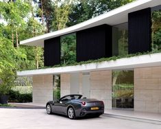 The Villa is a modern house with a flat roof, which is located in Utrecht, The Netherlands. The project was completed by Powerhouse Company closely with RAU to Villas, Exterior Wall Cladding, Modern Villa Design, Interior Architecture, Interior Design, Luxury Interior, Simple Interior, Flat Roof, Facade House