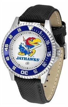 Kansas Jayhawks KU NCAA Mens Leather Wrist Watch SunTime. $68.95. Officially Licensed Kansas Jayhawks Men's Leather Sports Watch. Date Calendar And Rotating Bezel. Men. Poly/Leather Band. Adjustable Band