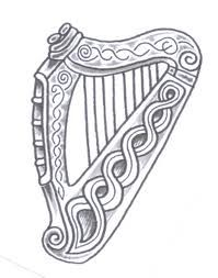 TATTOO - irish / celtic harp