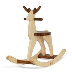Handmade Wooden Ride On Rocking Deer Reindeer Animal Design Rocker This wooden rocking deer is handcrafted with a distinct style. It is made with New Zealand pine Read more http://shopkids.ca/handmade-wooden-ride-on-rocking-deer-reindeer-animal-design-rocker/