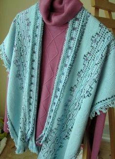 Monk's cloth ruana. Sandra's Stitches