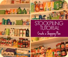 Stockpile Shopping - How to Create a Plan for the Year #stockpiling