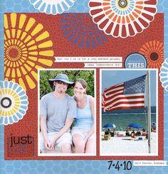 Just Us #Scrapbooking Layout from Creative Memories  http://www.creativememories.com