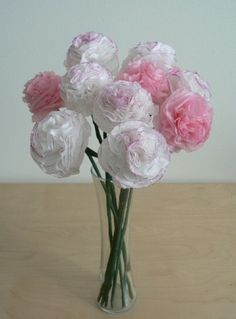 A beautiful alternative to fresh flowers ... DIY Tissue Paper Flowers. Here's how to get this look.