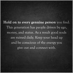 the genuine people.