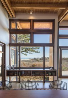 Windows... view of the coast - Long Dune Residence by Hammer Architects / Perched on a coastal bluff overlooking the Atlantic Ocean in Truro, Massachusetts
