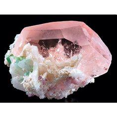 rose quartz rock pink