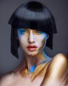 mayte garrote para premios fígaro #makeup by De Maria #graftobian #graftobianespaña #hdmakeup #airbrushmakeup #aerografia