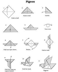 Vouwen origami vogel Dover Publications