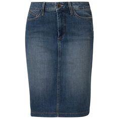 NYDJ Denim skirt lomita wash ($195) ❤ liked on Polyvore featuring skirts, bottoms, blue, blue cotton skirt, nydj, blue skirt, nydj skirts and cotton skirt