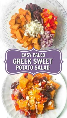 If you are looking for side dishes for your next bbq or summer picnic try this delicious paleo potato salad. Easy to make and uses healthy sweet potatoes! Salad With Sweet Potato, Potato Salad, Good Healthy Recipes, Amazing Recipes, Vegan Recipes, Best Greek Salad, Summer Side Dishes, Vegetable Salad, Summer Picnic