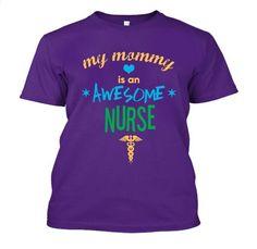 My Mommy Is Awesome - Nurse - Kids Tee / Hoodie - 18.00. Premium quality tees, tanks and hoodies from BadBananas. Flat rate shipping worldwide.