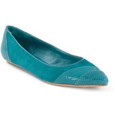 Lotus Mixed Material City Flat ($20) ❤ liked on Polyvore featuring shoes, flats, lotus, leather sole shoes, teal flat shoes, teal shoes, polish shoes and breathable shoes