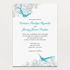 Hummingbirds Invitation