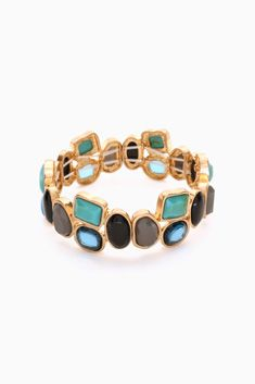 Blue Grey Black Stone Jewel Bracelet | @shoppinkblush