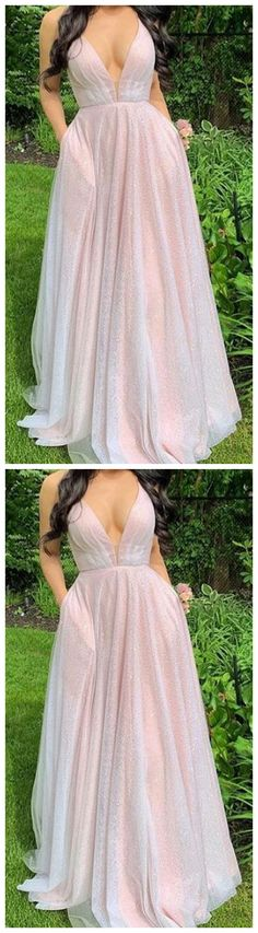 Super ideas for prom dress pink long sparkle Ivory Bridesmaid Dresses, Prom Dresses Long Pink, Prom Dresses With Pockets, White Maxi Dresses, Pretty Dresses, Homecoming Dresses, Sexy Dresses, Pink Dress, Casual Dresses