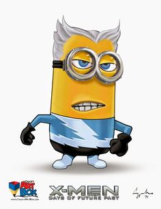 Minions as X-Men from the days of future past. This is a Crazy fan art series by Chuck Mullins. Amor Minions, Minions Cartoon, Despicable Minions, Cute Minions, Minions Quotes, X Men, Image Minions, Minion Painting, Minion Humour
