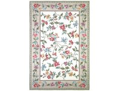 """KAS Rugs Colonial Ivory Floral Vine Area Rug 7'8""""round, $473."""