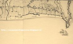 Map of Sampierdarena (west of Lanterna) By Vinzoni 1720