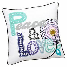 Fun Phrases Crewel Pillow Cover #pbteen