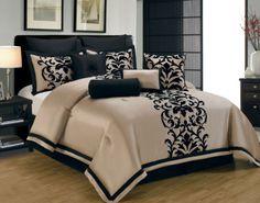10 Piece Queen Dawson Black and Gold Comforter Set | eBay