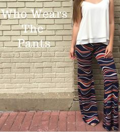 Veronica M's wide leg printed pants in stores and online