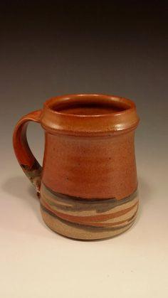 Large handmade pottery coffee or tea mug - D46