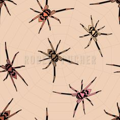 ARACHNOPHOBIA – No fear of spiders! They spun their wwsw (World Wide Spider Web) at patterndesigns.com.  https://www.patterndesigns.com/en/design/21031/Fear-of-Spiders
