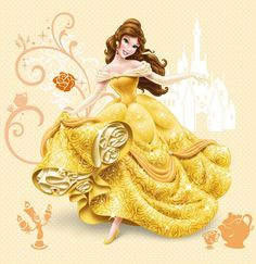 Explain to your girl very carefully about the show and show her a Belle costume and break the news