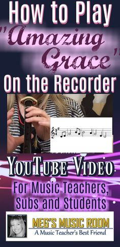 """How to Play """"Amazing Grace"""" on the Recorder - Brown Belt Music Education Games, Teaching Music, Music Classroom, Music Teachers, Smart Board Lessons, Recorder Music, Elementary Music, Music Lessons, Amazing Grace"""